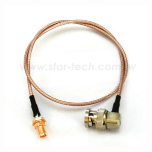 BNC Right angle Male to SMA Female Cable Assembly